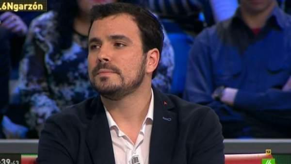 Alberto Garzón en 'La Sexta Noche'