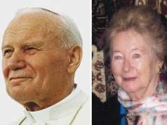 Juan Pablo II y Anna-Teresa Tymieniecka