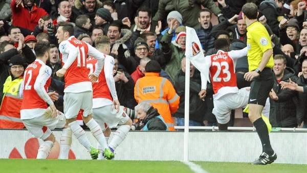 Gol del Arsenal, Welbeck