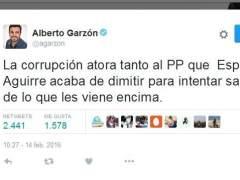 """IU cree que Aguirre dimite para """"salvarse de lo que se le viene encima"""""""