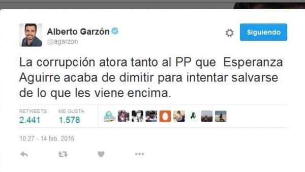 Tuit de Alberto Garzón