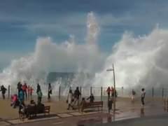 Oleaje en Coruña
