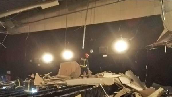 El techo caído en los cines de Valladolid