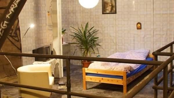 Una habitación en el metro de Berlín