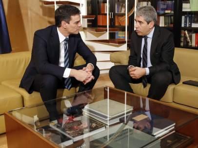 Pedro Sánchez y Francesc Homs