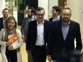 Reunión Ciudadanos y PSOE