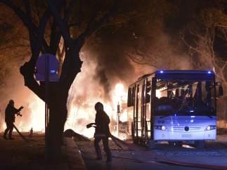 Explosión de una bomba en Ankara