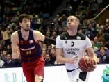 Ruoff y Tomic en el Barça - Bilbao Basket