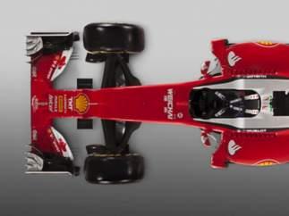 Vista cenital del Ferrari SF16-H