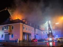 Incendio en un albergue de refugiados