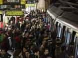 Huelga de metro en Barcelona