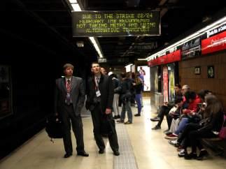 Huelga de metro.