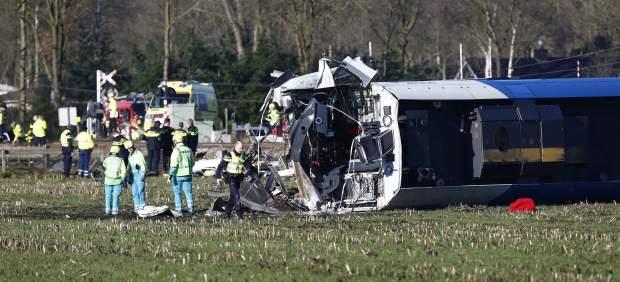 Descarrilamiento de un tren en Holanda