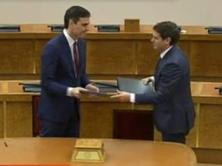 Pedro Sánchez y Albert Rivera