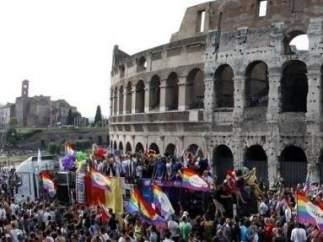 Manifestación LGTB en Roma.