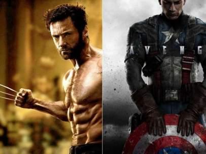 Lobezno y Capitán América