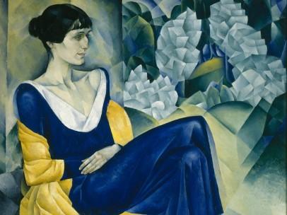 Natan Altman - Portrait of the Poet Anna Akhmatova, 1914
