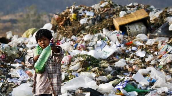 Basura en Birmania
