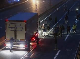Inmigrantes en Calais