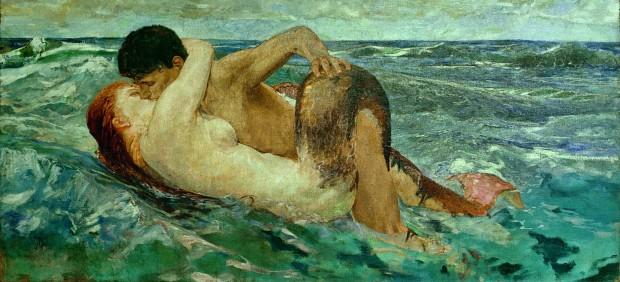 Max Klinger - Tritone e Nereide (Le Sirene), 1895