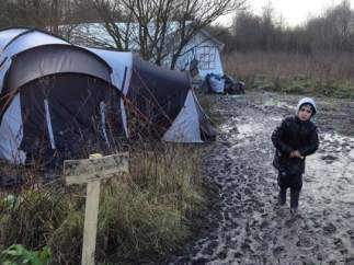 Campo de refugiados en Grande-Synthe