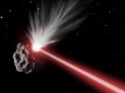 Láser para destruir asteroides