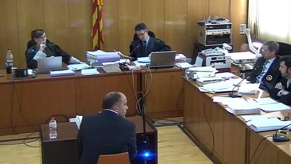 Captura de vídeo de la declaración del ex alcalde de Roda de Berà.