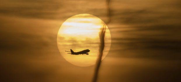 Amanecer en vuelo