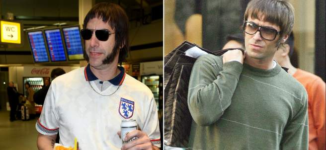 Sacha Baron Cohen y Liam Gallagher