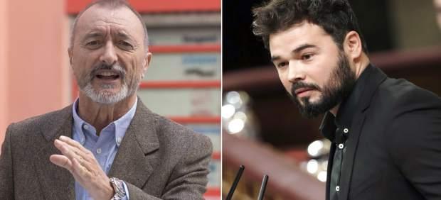 Pique en Twitter entre Arturo Pérez-Reverte y el diputado de ERC Gabriel Rufián
