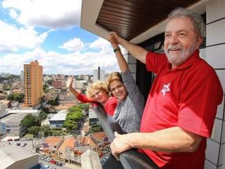 Rousseff visita a Lula da Silva