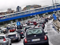 Grandes atascos en Madrid