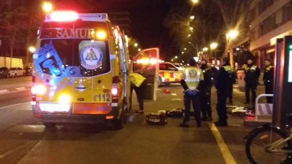 Ciclista atropellado en Madrid