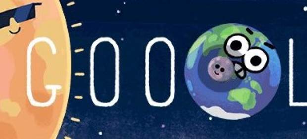 Google recrea el eclipse solar en Australia con uno de sus famosos 'doodle'
