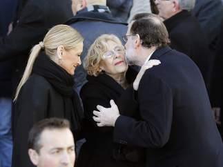 Mariano Rajoy, Manuela Carmena y Cristina Cifuentes en el homenaje al 11M