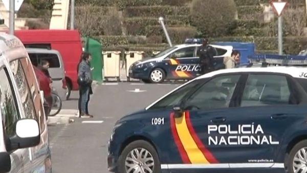 Policía desplegada en Ávila