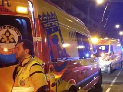 Efectivos del SAMUR en Madrid