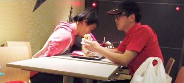 Caridad en un McDonald's