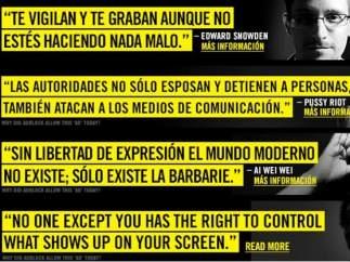 Campaña contra la censura en Internet