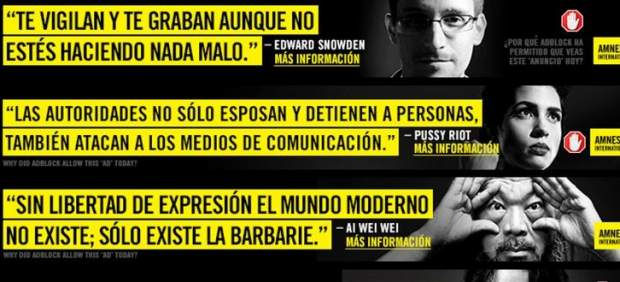 Amnistía Internacional, activistas y AdBlock protestan contra la censura oficial en Internet