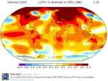 El mapa de las temperaturas de la NASA