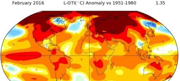 La NASA confirma un nuevo récord de temperatura en febrero agravando el cambio climático