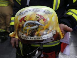 Homenaje en el casco
