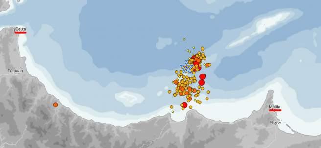 Temblores en el Mar de Alborán
