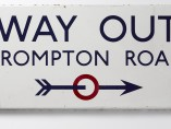Edward Johnston - Way Out, Brompton Road, 1916