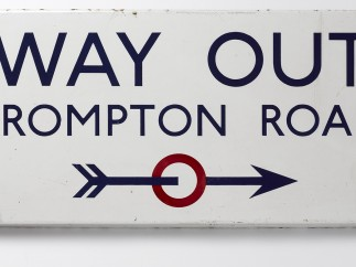 Edward Johnston - Way Out, Brompton Road, 1916