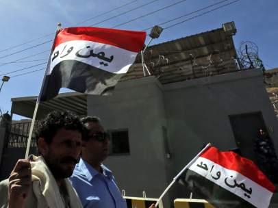 Manifestación en Saná