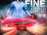 Cartel promoción Bayern - Juventus