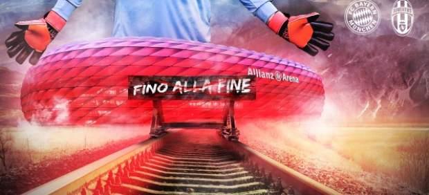 El Bayern promociona el partido ante la Juventus con una imagen que recuerda al nazismo