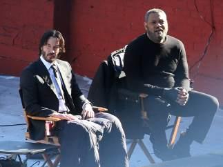 Laurence Fishburne y Keanu Reeves